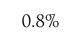 再改ざん被害発生率0.8%イメージ