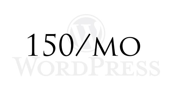 月間最大150WP超の対応実績